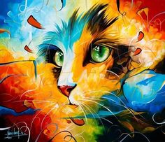 Peintures & Illustrations de chats by ???? have other pins by artist - must find so can+credit artist