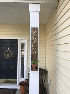 Rustic Modern Wood & Metal Address Plaque with Planter Shelf | Personalized Box Number Sign Vertical 3D Mailbox Box House Number by DistressedMeNot on Etsy https://www.etsy.com/listing/510385041/rustic-modern-wood-metal-address-plaque