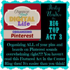 Due to a tie there are 2 Featured Acts in the Center Ring this week and this is a sneak peek of 1! #BigTopBlogParty by So Domestically Challenged       http://www.welcometomycircus.com/2015/02/party-under-the-big-top-act-3-blog-party/