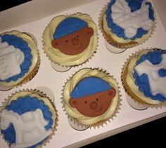 Baby boy shower cupcakes