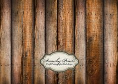 6ft x 5ft Vinyl Photography Backdrop for Newborns, Babies and Children Weathered Tan Brown Wood by Swankyprints