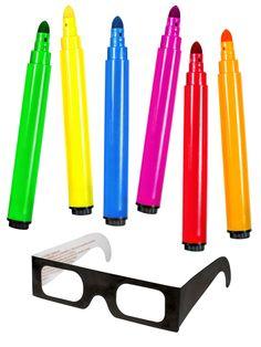 Auf der Suche nach außergewöhnlichen Geschenk Ideen, die Spaß machen und die Kreativität fördern, möge man hierüber stolpern: 3D Malstifte! Lieblings Farbe ansetzen, Bild malen und anschließend mit der Brille die dreidimensionalen Effekte bestaunen! Große Magie für die Kleinen, die sich wunderbar als Geschenk zum oder Spiel am Kinder Geburtstag eignet!