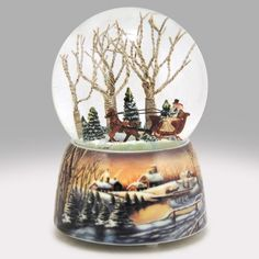 Sleigh Ride for Two Snow Globe from http://www.snowdomes.com