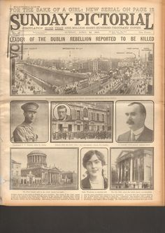 ORIGINAL NEWSPAPER FROM THE EASTER RISING 1916 VERY RARE AND HIGHLY COLLECTABLE