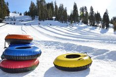 Boreal's snow tubing park at Playland offers hours of snow tubing fun. Boreal's Playland offers groomed tubing lanes, moving carpet, and quality snow tubes. Lake Tahoe Winter, Winter Cabin, Winter Fun, Winter Snow, Tahoe Ski Resorts, Outdoor Adventures, Shopping Mall, Places To Go, Display