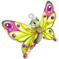 Butterflies Cartoon Clip Art