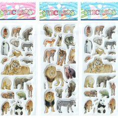 3 teile/los Kleine Jungen Mädchen Baby Cartoon Aufkleber Aninals Kawaii Geschenke set Prinzessin Spielzeug Schöne Entwickeln Intelligenz # ST015