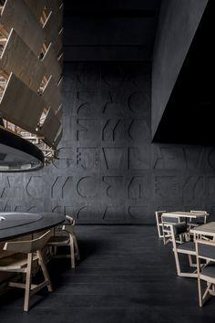 Samurai armour informs Esrawe's Tori Tori restaurant in Mexico City Japanese Restaurant Interior, Restaurant Interiors, Restaurant Restaurant, Japanese Interior, Tori Tori, Geometric Construction, Studios Architecture, Architecture Interiors, Samurai Armor
