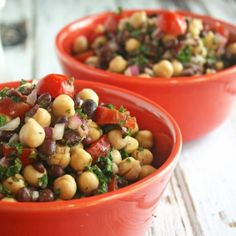 Chickpea & Black Bean Salad - a light and healthy salad.