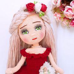 Bonjour à tous 🤗🤗🤗❤ Bebisim qui veulent acheter dm den y … - Just DIY Crochet Motifs, Crochet Doll Pattern, Easy Crochet Patterns, Crochet Dolls, Doll Patterns, Crochet Fairy, Crochet Flowers, Crochet Patterns Amigurumi, Amigurumi Doll