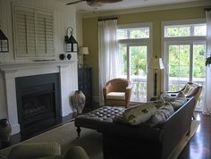 covered tv over fireplace