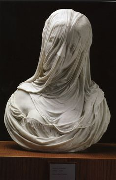Bust of a Veiled Woman (Puritas) 1717 - 1725 Museo del Settecento Veneziano, Ca' Rezzonico, Venice, Italy Sculpture, Marble Done by Antonio Corradini Greek Statues, Angel Statues, Buddha Statues, Stone Statues, Statue Ange, La Pieta, Under The Veil, Art Tumblr, Ghost In The Machine