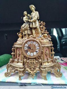 Gebruikt: antieke bronzen klok (Klokken & Barometers) - Te koop voor € 300,00 in Kortrijk