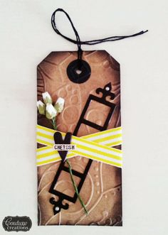 Couture Creations: Fubu Tags by Amanda Baldwin | #couturecreationsaus #embossingfolders #decorativedies #tags