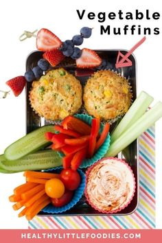 Muffins for lunch? These savoury muffins are perfect for the lunchbox, picnics or lunch at home. Packed with vegetable they are great for babies, toddlers and big kids. A great afternoon snack or even breakfast item. Toddler Vegetables, Hidden Vegetables, Kids Packed Lunch, Healthy Packed Lunches, Toddler Meals, Kids Meals, Toddler Recipes, Kids Picnic Foods, Picnic Ideas