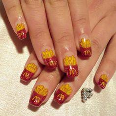McDonald's French fries nail art