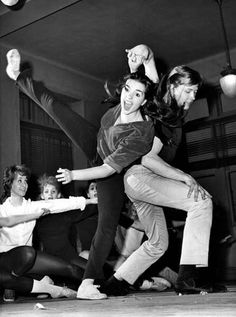 Liza Minnelli and Christopher Walken in rehearsal for Best Foot Forward: Off-Broadway, 1963