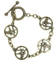 Pulsera The Hunger Games (Los Juegos del Hambre). Logo Sinsajo