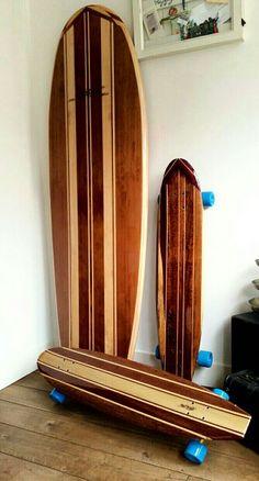 Surf & ride wooden surfboard