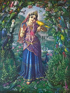 A Vedic Bhakti art devotional slideshow featuring photo images of Srimati Tulasi Devi Deities. In order to understand who Tulasi devi is, one must also under. Arte Krishna, Krishna Lila, Radha Krishna Love, Radha Rani, Lord Krishna Images, Radha Krishna Pictures, Goddess Of Love, Goddess Art, Mother Goddess