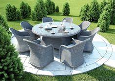 Meble ogrodowe RONDO ø180 Royal - prod. Oltre Outdoor Indoor Design (meble ogrodowe technorattan meble technorattan meble ekskluzywne meble ogrodowe technorattan zestawy ogrodowe z technorattanu meble tarasowe, stół ogrodowy, fotele ogrodowe, krzesła ogrodowe, Garden Space)