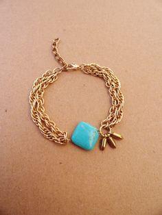 Turquoise Square Stone Bracelet