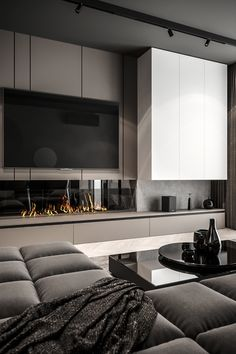 Apartment Interior, Home Living Room, Interior Design Living Room, Living Room Decor, Living Room Wall Units, Living Room Tv Unit Designs, Home Room Design, Fireplace Design, House Rooms