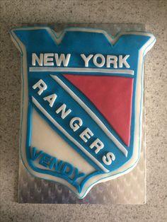New york rangers cake #birthdaycake #newyorkrangers #czechrepublic