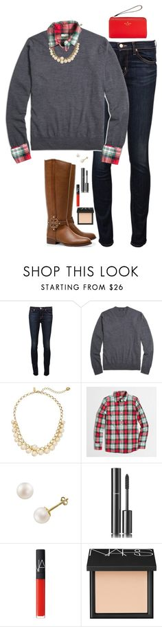"""""""11.1.15"""" by sc-prep-girl ❤ liked on Polyvore featuring J Brand, Brooks Brothers, Kate Spade, J.Crew, Tory Burch, PearLustre by Imperial, Chanel and NARS Cosmetics"""