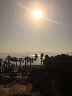 Sunrise over the Sea of Galilee in Tiberius, Israel