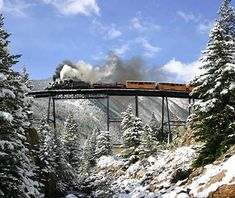 I live in Colorado so this shouldn't be a hard one ... Georgetown Loop Railroad, Colorado