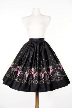 Jenny Skirt in Dancing Horse Print