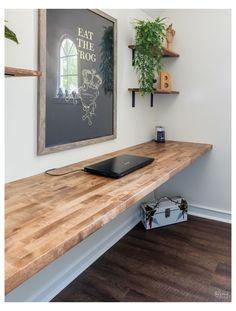 Diy Office Desk, Home Office Setup, Home Office Space, Home Office Design, House Design, Office Nook, Office Furniture, Diy Wood Desk, Diy Desk
