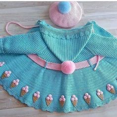 Interested in learning all about crochet? Access the blue Link n … Crochet Doll Dress, Crochet Girls, Crochet Doll Clothes, Cute Crochet, Crochet For Kids, Crochet Design, Crochet Pattern, Crochet Baby Jacket, Baby Coat