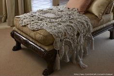 Freeform Crochet Blanket - pattern available at Lion Brand website