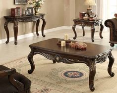 Catalina Warm Cherry Wood Sofa Table