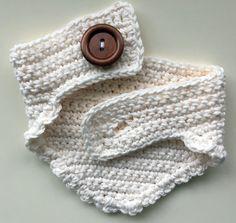 Cream Crochet Scarf Baby Scarf Toddler Scarf Bandana