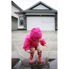 Rapidly becoming my favorite photography blog. How is every picture so stunning? Oozing with story and emotion and aesthetic. LOVE! Puddle Jumping, What A Beautiful World, Outdoor Pictures, Right Brain, Kid Poses, Learn To Dance, Challenge, Dancing In The Rain, Just Smile