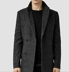 Charcoal Peacoat from All Saints UK