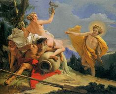 Giovanni Battista Tiepolo 1696-1770 Italy  Apollo and Daphne.