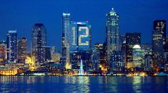Beautiful city of Seattle. :)  A Seattle building's lights formed a 12 on Saturday in honor of Seahawks fans, known as the team's 12th Man. Credit Elaine Thompson/Associated Press  Seattle's so-called 12th Man creates the loudest setting in the N.F.L., and the crowd lived up to its reputation again on Sunday.