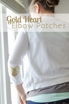 Easy Gold Heart Elbow Patches - Craftaholics Anonymous