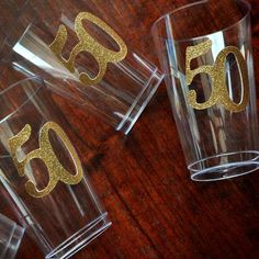 Love this 50th birthday cups! So simple and cute! I am sure my guests would love them!