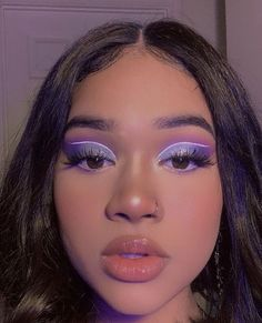 ☾ What is Makeup ? What is Makeup ? In general, what's makeup ? Cute Makeup Looks, Makeup Eye Looks, Eye Makeup Art, Colorful Eye Makeup, Glam Makeup, Pretty Makeup, Skin Makeup, Glitter Makeup, Mauve Makeup