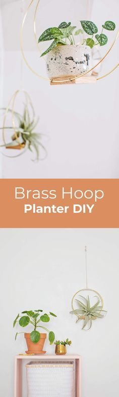 This specific project came to me after seeing a photo of a mid-century log holder. I was in the shower and suddenly I realized how easy it would be to make a set of hanging planters in a similar silho Diy Hanging Planter, Diy Planters, Hanging Planters, Hanging Baskets, Mason Jar Crafts, Mason Jar Diy, Beautiful Mess, Beautiful Things, House Plants