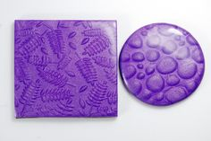Whether using a deep stamp and shaving or using a shallow stamp and sanding after baking, Cernit polymer clay produces a great mica shift effect. Precious Metal Clay, Blue Bottle, Polymer Clay Jewelry, Copper, Bronze, Stamp, Shallow, Shaving, Silver