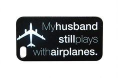 Pilots Wife Plastic Phone Case