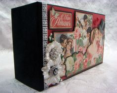 TPHH Sharon Chipboard PREMADE Graphic 45 Keepsake Photo Scrapbook Album ~Video