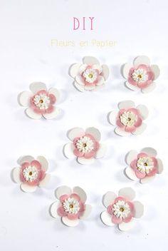 DIY paper flower fleur en papier 1