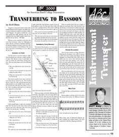 Transferring to Bassoon by Scott Bleau
